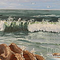 Waves Crashing by Pamela  Meredith