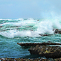 Waves Hitting Shore by Ronel Broderick