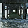 Waves Under The Clearwater Pier 60 by D Hackett