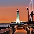 Wawatam Lighthouse Sunrise by John Absher