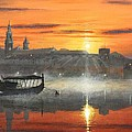 Wawel Sunrise Krakow by Richard Harpum