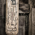 We Buy Old Horses - Vintage Thermometer by Gary Heller