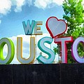 We Love Houston Texas by Dan Sproul