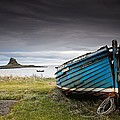 Weathered Boat On The Shore by John Short