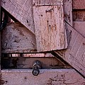 Weathered Gate With Lock And Chain by Joe Kozlowski