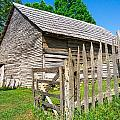 Weathered Old Country Barn by Mary Almond