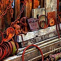 Weathered Rims And Chains by Marcia Lee Jones