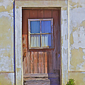 Weathered Rustic Red Wood Door Of Portugal by David Letts