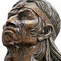 Weathered Statue Of Inca Warrior by Robert Hamm