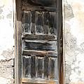 Weathered Wooden Gray Door by Robert Hamm
