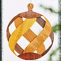 Weave Holiday Ornament Image Art by Jo Ann Tomaselli