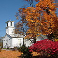 Webster Church On A Fall Day by Susan Wyman