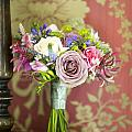 Wedding Bouquet And Vintage Wallpaper by Lee Avison