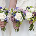 Wedding Bouquets Held By Bridesmaids by Lee Avison