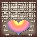 Wedding Guest Signature Book Heart Bubble Speech Shapes by Georgeta Blanaru