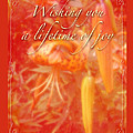 Wedding Joy Greeting Card - Turks Cap Lilies by Mother Nature