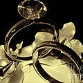 Wedding Rings Cake Top Blk Antiqued by Lesa Fine