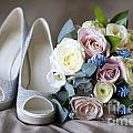 Wedding Shoes And Flowers by Lee Avison