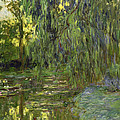 Weeping Willows The Waterlily Pond At Giverny by Claude Monet