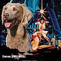 Weimaraner Art Canvas Print - Star Wars Movie Poster by Sandra Sij