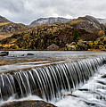 Weir At Ogwen by Adrian Evans