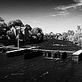 weir on the river corrib at Kings Gap Galway city county Galway Republic of Ireland by Joe Fox