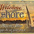 Welcome Ashore Sign by JQ Licensing