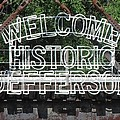 Welcome Historic Jefferson Texas Railroad Sign by Donna Wilson