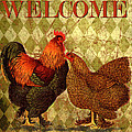 Welcome Rooster-61412 by Jean Plout