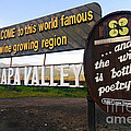 Welcome Sign To Napa Valley by George Oze