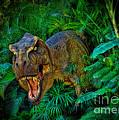 Welcome To My Park Tyrannosaurus Rex by Olga Hamilton