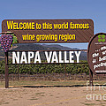 Welcome To Napa Valley California Dsc1681 by Wingsdomain Art and Photography