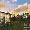 Old Well House And Golden Clouds by Pamela Smale Williams