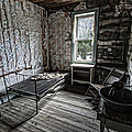 Wells Hotel Room 2 - Garnet Ghost Town - Montana by Daniel Hagerman