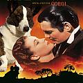 Welsh Corgi Cardigan Art Canvas Print - Gone With The Wind Movie Poster by Sandra Sij