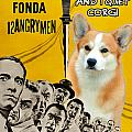 Welsh Corgi Pembroke Art Canvas Print - 12 Angry Men Movie Poster by Sandra Sij