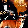 Welsh Corgi Pembroke Art Canvas Print - The Godfather Movie Poster by Sandra Sij