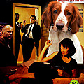 Welsh Springer Spaniel Art Canvas Print - Pulp Fiction Movie Poster by Sandra Sij