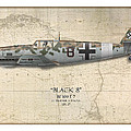 Werner Schroer Messerschmitt Bf-109 - Map Background by Craig Tinder
