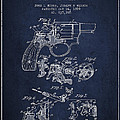 Wesson Hobbs Revolver Patent Drawing From 1899 - Blue by Aged Pixel