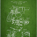 Wesson Hobbs Revolver Patent Drawing From 1899 - Green by Aged Pixel