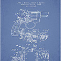 Wesson Hobbs Revolver Patent Drawing From 1899 - Light Blue by Aged Pixel
