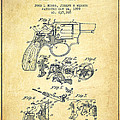 Wesson Hobbs Revolver Patent Drawing From 1899 - Vintage by Aged Pixel