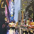 West 42nd Street by Nancie Johnson