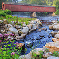 West Cornwall Covered Bridge Summer by Bill Wakeley