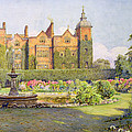 West Front And Gardens Of Hatfield by Ernest Arthur Rowe