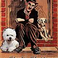 West Highland White Terrier Art Canvas Print - A Dogs Life Movie Poster by Sandra Sij