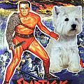 West Highland White Terrier Art Canvas Print - Spartacus Movie Poster by Sandra Sij