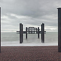 West Pier Skeleton In Brighton by Semmick Photo