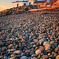 West Point Lighthouse Rocks by Inge Johnsson